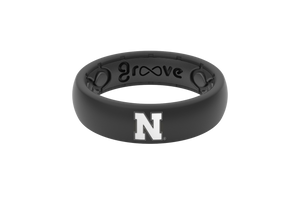 Nebraska Black Silicone Rings
