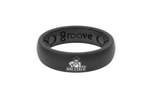 Thin College New Mexico State - Groove Life Silicone Wedding Rings