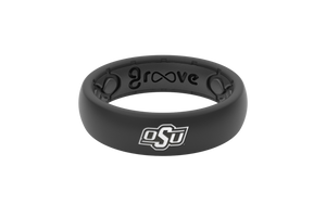 Thin College Oklahoma State - Groove Life Silicone Wedding Rings