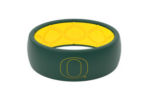 Original College Oregon Outline - Groove Life Silicone Wedding Rings