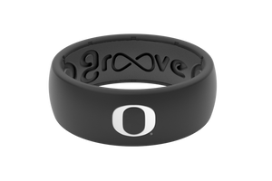 Original College Oregon Black - Groove Life Silicone Wedding Rings