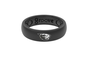 Thin College Oregon State - Groove Life Silicone Wedding Rings