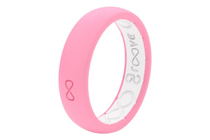 Pink Womens Silicone Wedding Bands