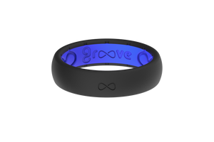 **DISCONTINUED** Thin Solid Midnight Black/Deep Blue **DISCONTINUED** - Groove Life Silicone Wedding Rings