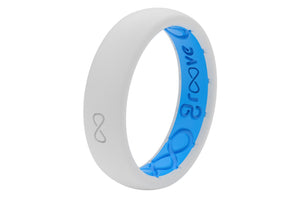 Snow Womens Silicone Wedding Rings