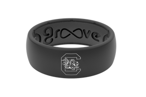 Original College South Carolina - Groove Life Silicone Wedding Rings