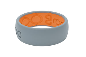 Original Solid Storm Grey/Orange - Groove Life Silicone Wedding Rings