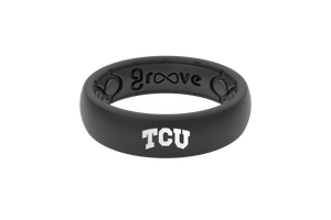 Thin College TCU Full - Groove Life Silicone Wedding Rings