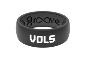 Original College Tennessee Black Vols - Groove Life Silicone Wedding Rings