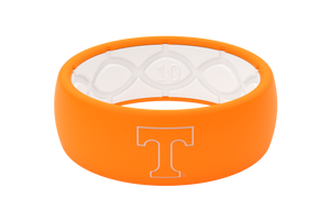 Original College Tennessee Outline - Groove Life Silicone Wedding Rings