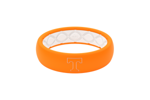 Thin College Tennessee Outline - Groove Life Silicone Wedding Rings
