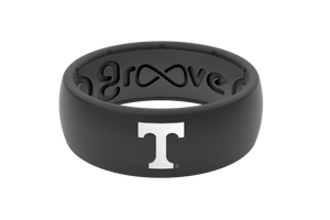 Original College Tennessee Black - Groove Life Silicone Wedding Rings