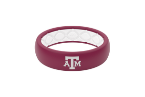Texas A&M Collegiate Silicone Rings Thin Color