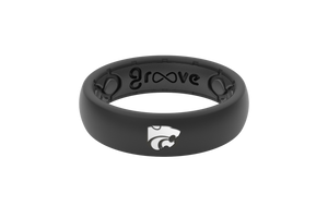 Thin College Kansas State - Groove Life Silicone Wedding Rings