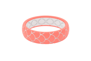 Thin Dimension Scales Coral - Groove Life Silicone Wedding Rings