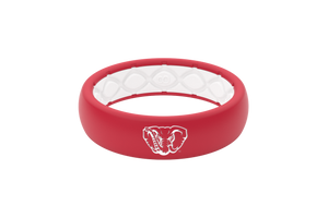 Thin College Alabama Mascot - Groove Life Silicone Wedding Rings