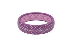 Silicone Ring Groove Dimension | Arrows - Lilac - Thin Flat