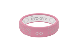 Silicone Ring Groove Dimension | Arrows - Pink - Thin Flat