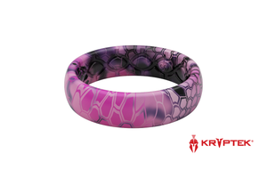 Thin Kryptek Siren Pattern Camo Silicone Rings