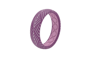 Silicone Ring Groove Dimension | Arrows - Lilac - Thin Angle