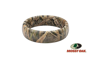 Thin Camo Mossy Oak Blades - Groove Life Silicone Wedding Rings