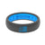 Thin OHT Deep Stone Grey/Blue Flag - Groove Life Silicone Wedding Rings