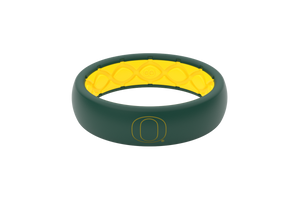 Thin College Oregon Outline - Groove Life Silicone Wedding Rings
