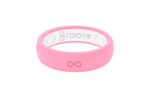 Thin Solid Punchy Pink - Groove Life Silicone Wedding Rings