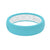 Thin Solid Turquoise - Groove Life Silicone Wedding Rings