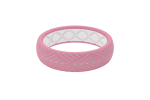 Thin Dimension Arrows Pink - Groove Life Silicone Wedding Rings