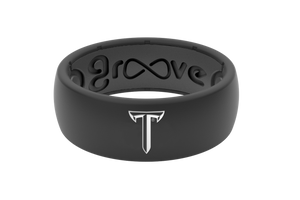 Original College Troy Black - Groove Life Silicone Wedding Rings