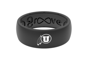 Original College Utah - Groove Life Silicone Wedding Rings