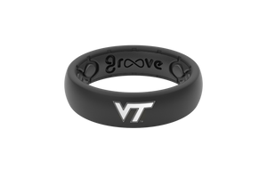 Thin College Virginia Tech - Groove Life Silicone Wedding Rings