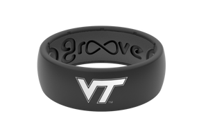 Original College Virginia Tech - Groove Life Silicone Wedding Rings
