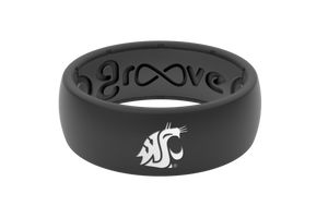 Original College Washington State - Groove Life Silicone Wedding Rings