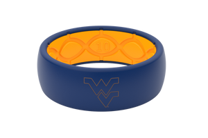 Original College West Virginia Outline - Groove Life Silicone Wedding Rings