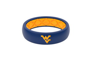 Thin College West Virginia Full - Groove Life Silicone Wedding Rings
