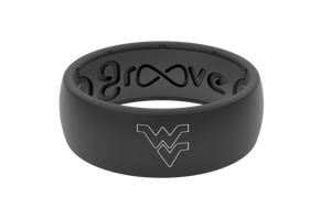 Original College West Virginia Black/Outline - Groove Life Silicone Wedding Rings