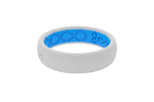 White Groove Silicone Wedding Rings