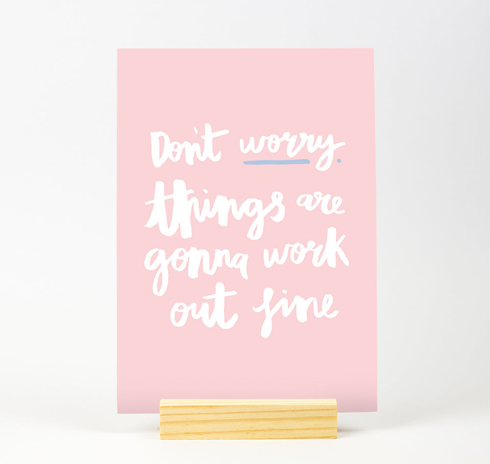Don't worry Pastel Colour Print