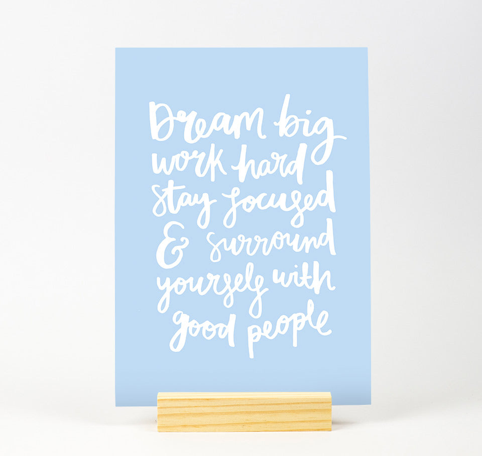Dream big Pastel Colour print