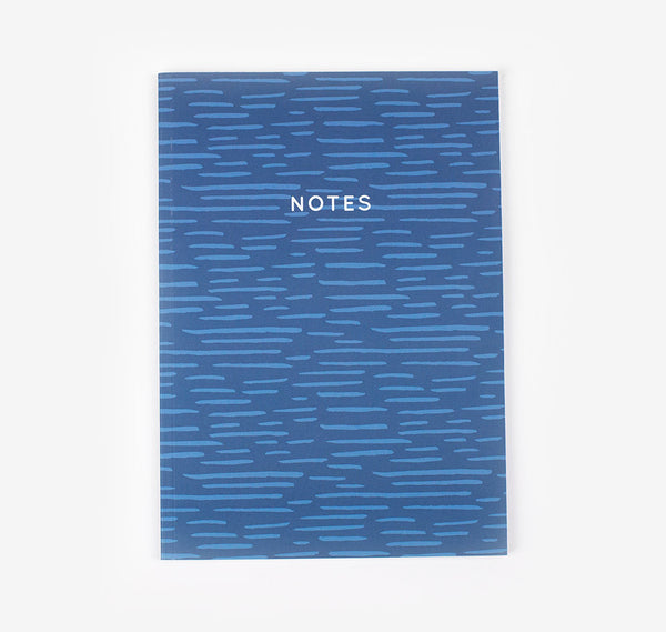 Navy blue notebook