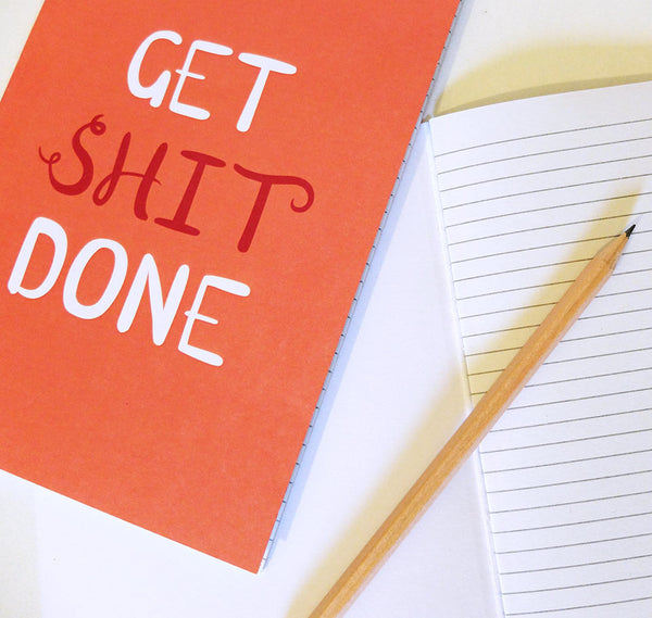 Get Shit Done notebook with lined pages