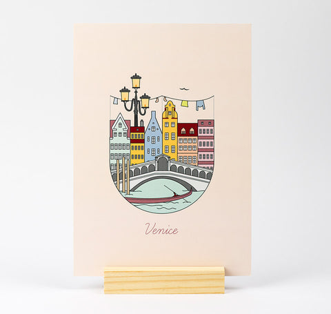 Venice Illustration A5 Print
