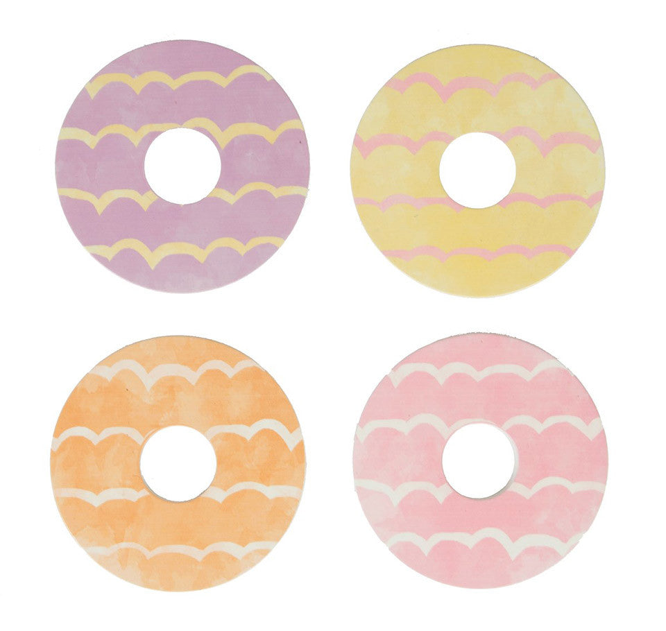Set of 4 celebration biscuit coasters