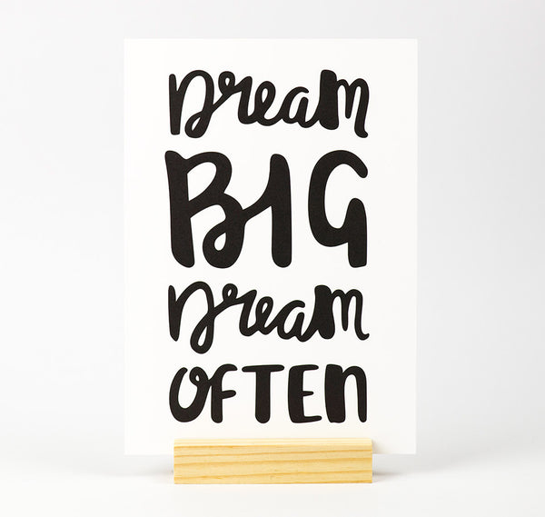 Dream big dream often quote print