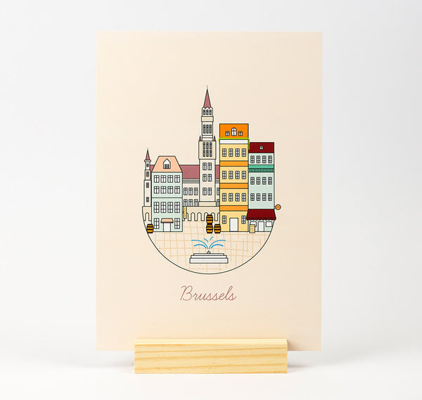 Brussels Illustration A5 Print