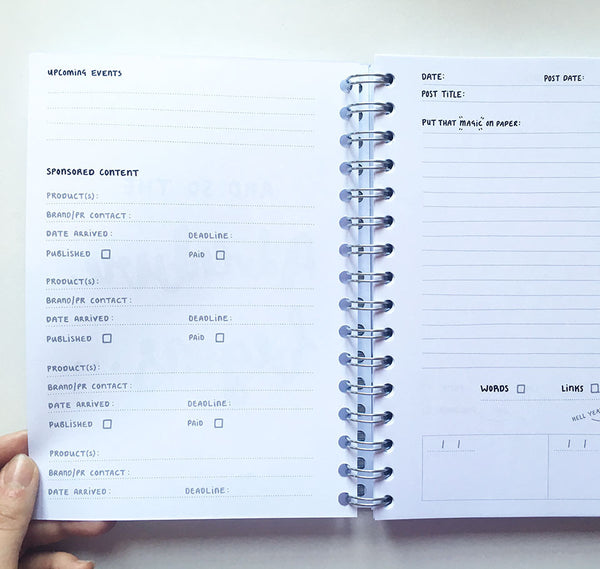 The Ultimate Blog Planner (Grey cover)