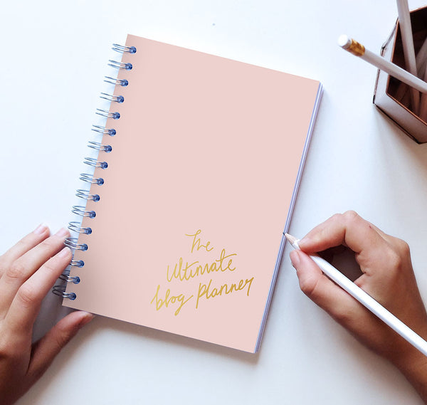The Ultimate Blog Planner (Peach cover)