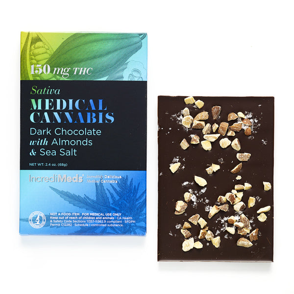 Dark Chocolate Bar with Almonds & Sea Salt